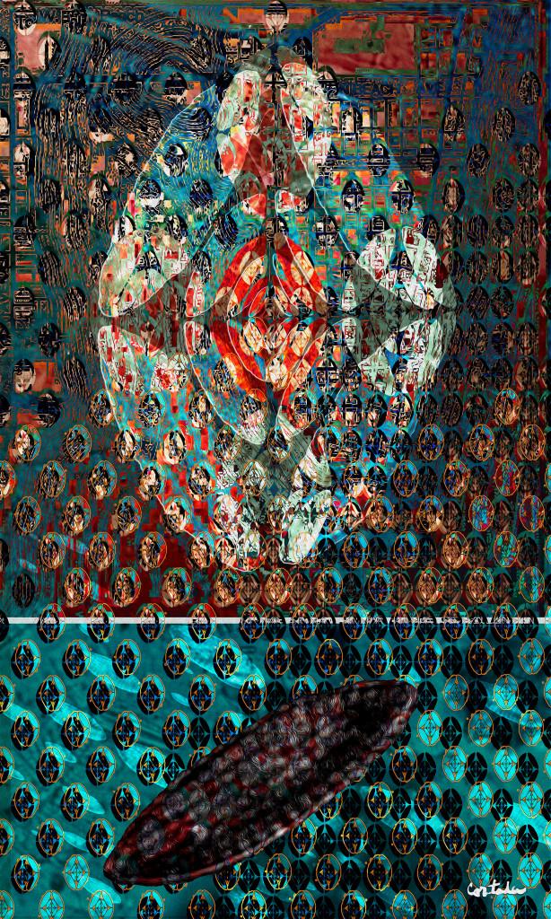 """Xavier Cortada, """"Just Below the Surface: 1915 (Miami Beach Centennial),"""" digital art, 2015."""