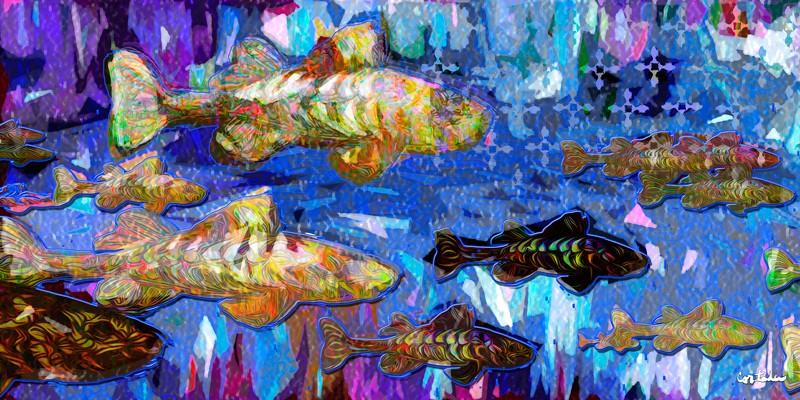 "Xavier Cortada, ""ΙΧΘΥΣ (Ichthys),"" digital art, 2015."