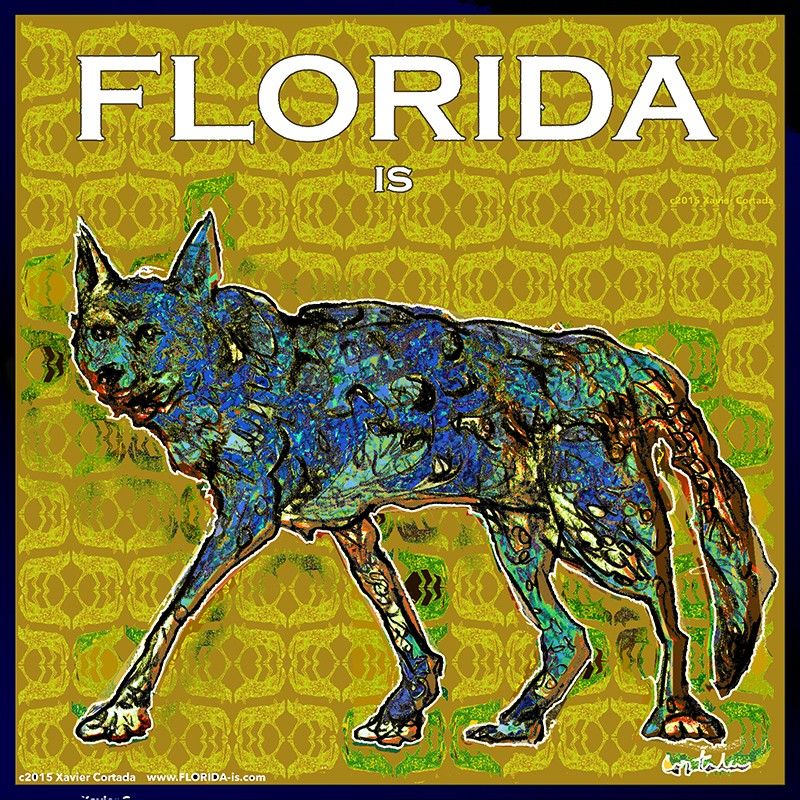 "Xavier Cortada, ""Florida is… the Red Wolf,"" digital art, 2015. (www.florida-is.com)"