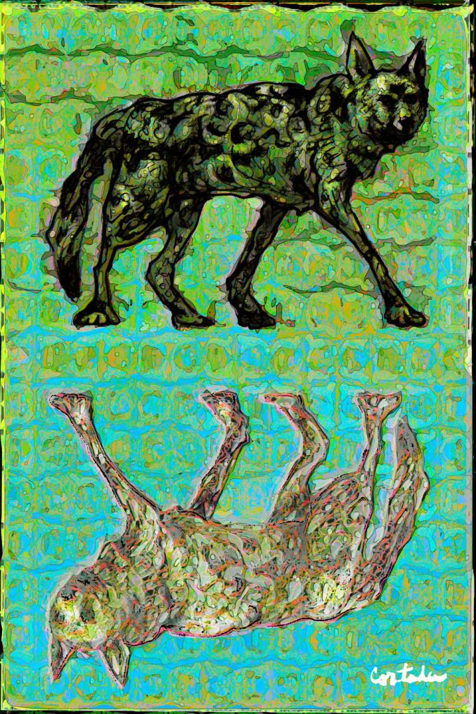 "Xavier Cortada, ""Florida is… Red Wolves,"" digital art, 2015. (www.florida-is.com)"