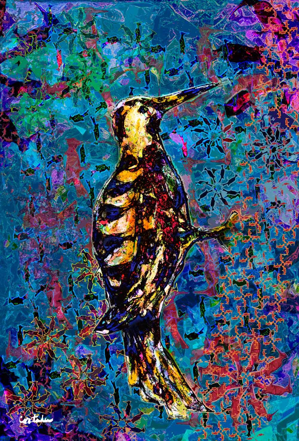 "Xavier Cortada, ""Florida is… Woodpeckers,"" digital art, 2015. (www.florida-is.com)"