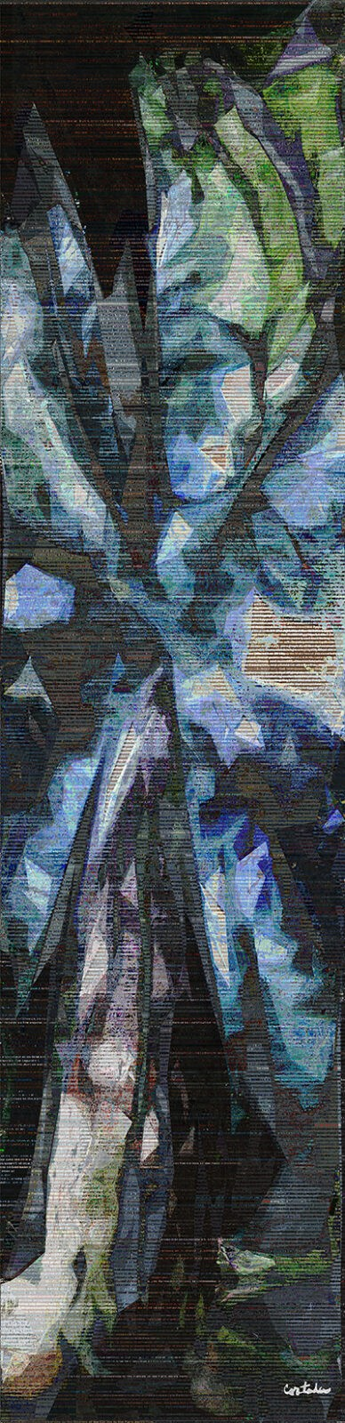 "Xavier Cortada, ""Ancient Forests: COP21-2216 (H. J. Andrews Experimental Forest LTER), digital art, 2016"