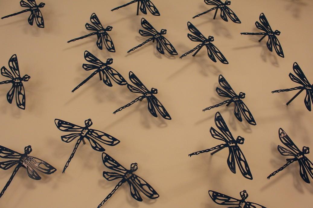 Blue Dragonflies Detail WEB