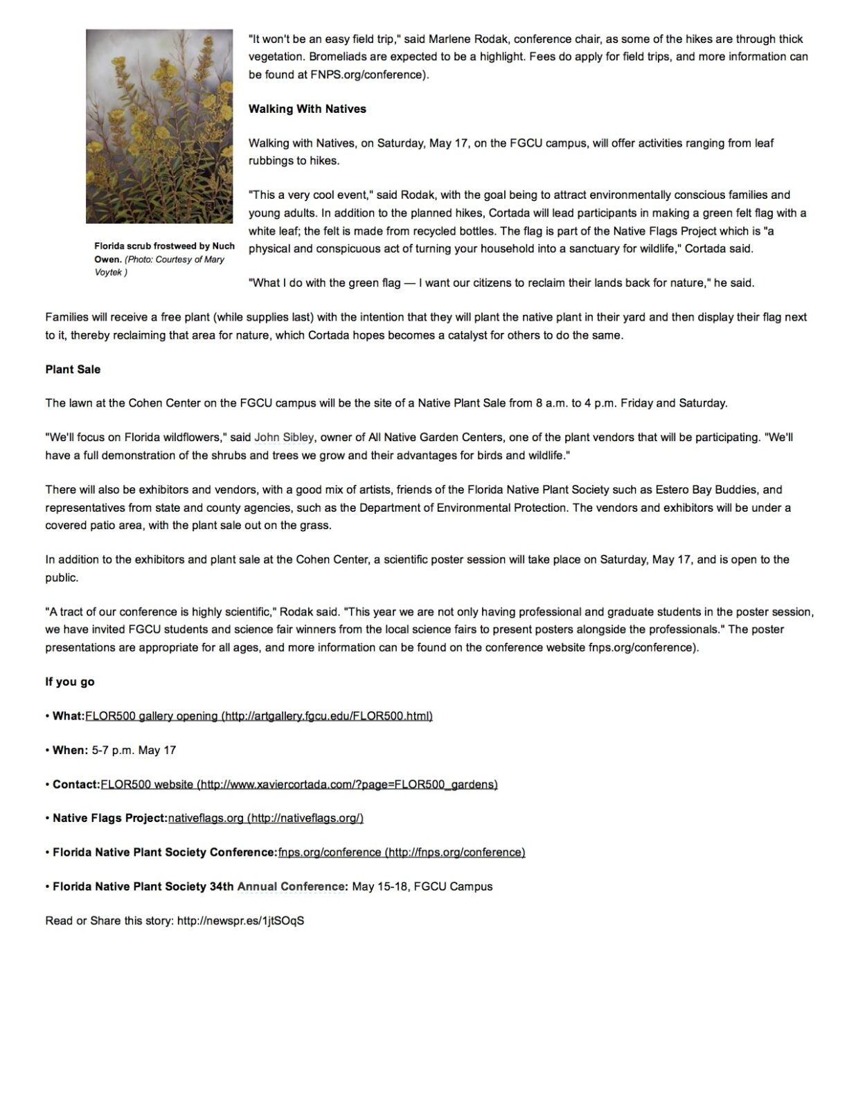 Growing Native- FGCU hos...lant Society conference page 3