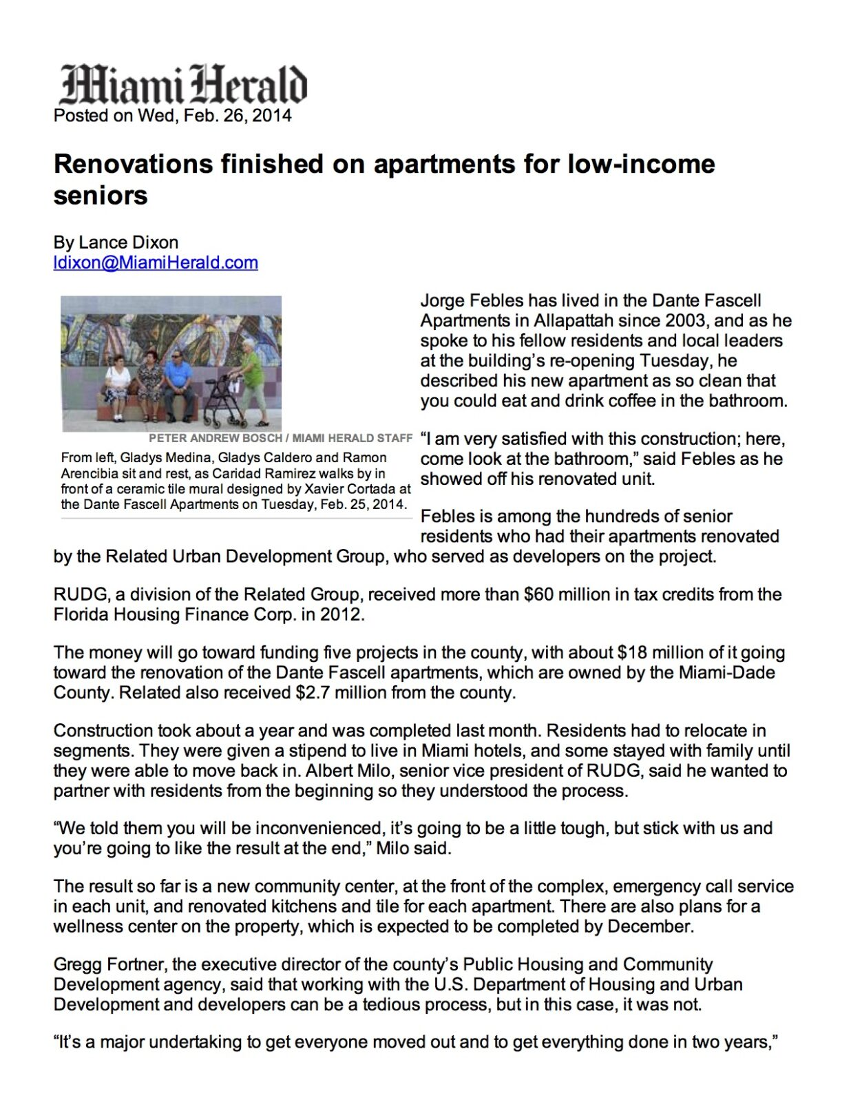 Renovations finished on ...-2014 | MiamiHerald.com page 1