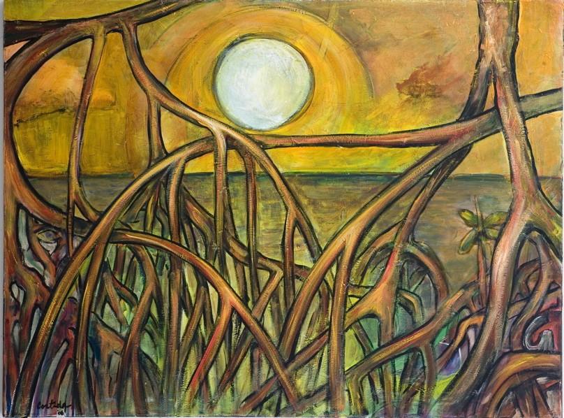mangroves-sunset