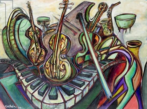 Musica, 2005 (acrylic on canvas)